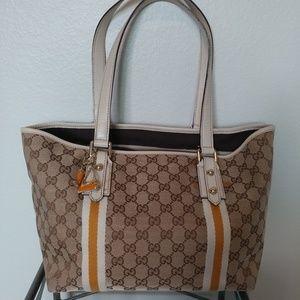 Authentic Vintage Gucci Monogram Tote Charm Bag